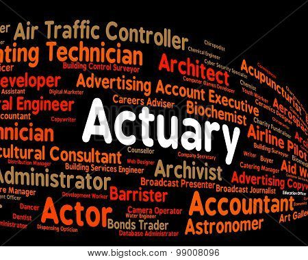 Actuary Job Shows Actuarial Science And Cpa