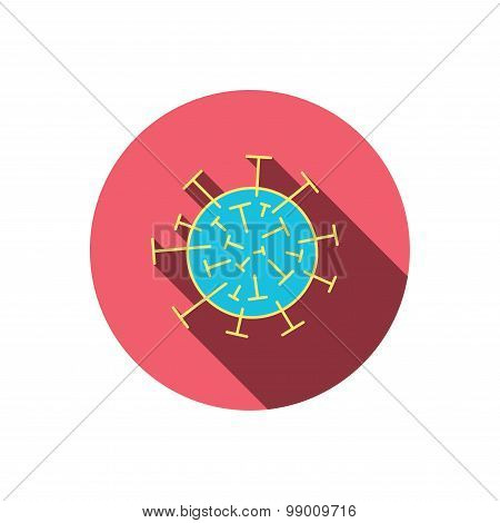 Virus icon. Molecular cell sign.