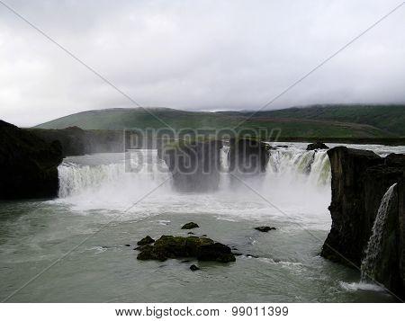 Godafoss waterfall view (Iceland)
