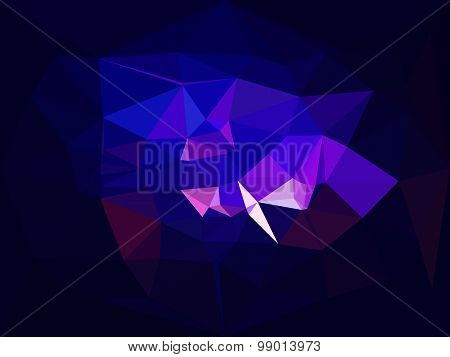 Vector low poly background. Abstract diamond background in violet and blue colors