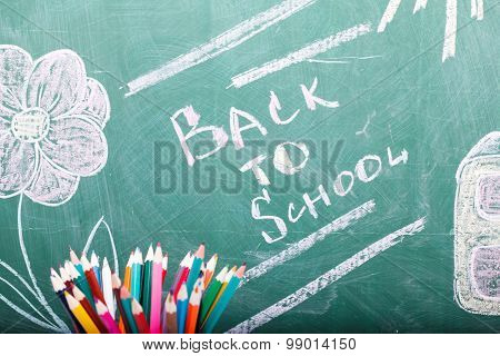 School Stationary And Blackboard