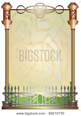 Garden fence text frame.