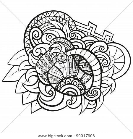 Abstract vector hand drawn vintage ethnic pattern