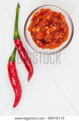 Red Thai Peppers And Sauce