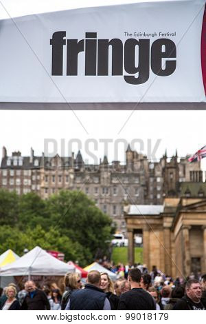 EDINBURGH - AUGUST 15: Crowds enjoy the annual Edinburgh fringe festival, on August15, 2015 in Edinburgh, Scotland