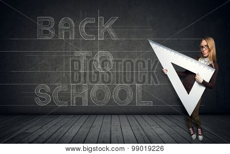 back to school concept - with nerd student