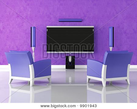 Purple Home Theater
