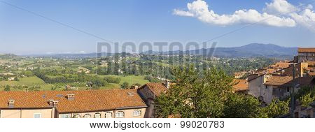 Langhe Hilly Region: viewpoint of  Murazzano (Cuneo). Color image