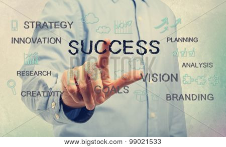 Success Concept With Young Man
