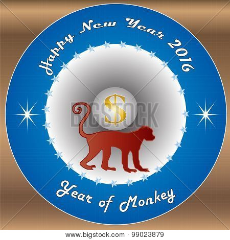 Happy New Year 2016 The Year Of Monkey