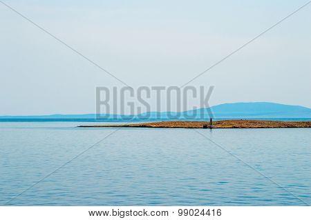 Small Desert Island In The Adriatic