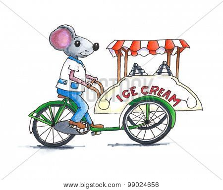 From the series mouse - Ice cream mouse