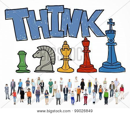 Think Planning Ideas Creativity Concept