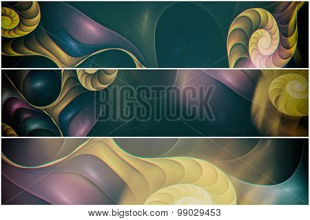 fractal abstract banners