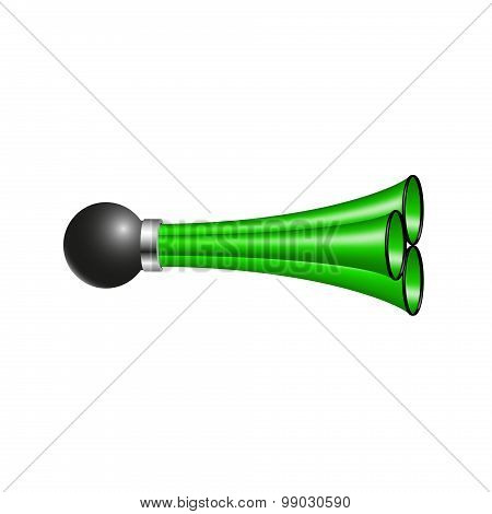 Triple air horn in green design