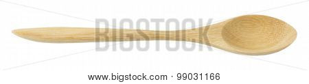 Wooden Spoon Isolated On A White Background