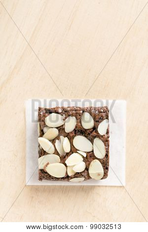 Chocolate Brownie With Almond