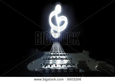 Freezelight treble clef