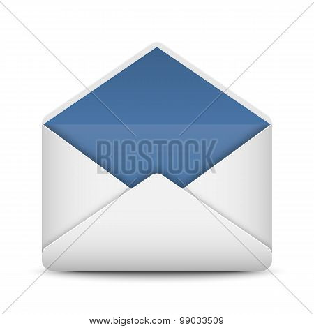 Envelope Mail Icon On White Background, Vector Illustration