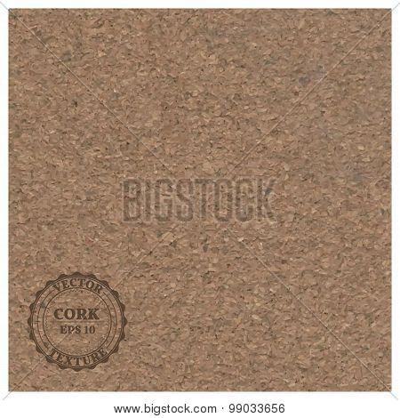 Texture Cork, Vector Illustration.