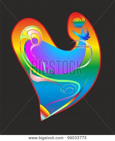 abstract heart,