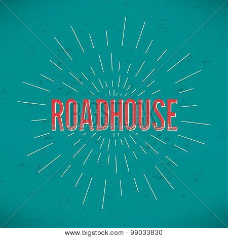 Abstract Creative concept vector design layout with text - roadhouse. For web and mobile icon isolat