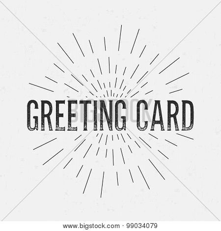 Abstract Creative concept vector design layout with text - greeting card. For web and mobile icon is