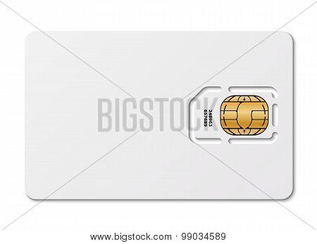 Blank Sim Card, Vector
