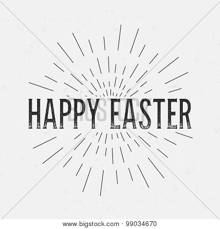 Abstract Creative concept vector design layout with text - happy easter. For web and mobile icon iso