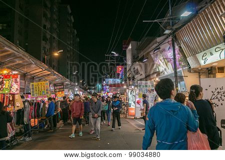 TAICHUNG TAIWAN - APR 14 : Taiwan's unique culture night bazaar attracts many young people to this city which has become one of Taiwan's culture on 14 April 2015 in Taichung.