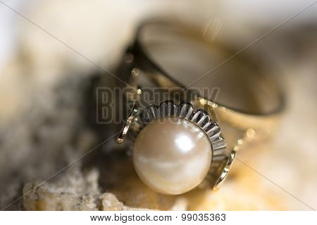 Ring With Ancient Pearl