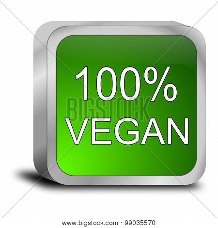 100% vegan Button