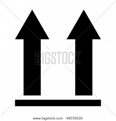 This Side Up Packaging Symbol On White Background, Vector Illustration