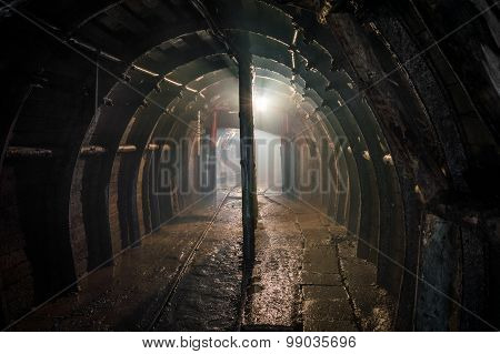 Underground Illuminated Tunnel