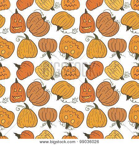 Funny Pumpkin Vector Pattern