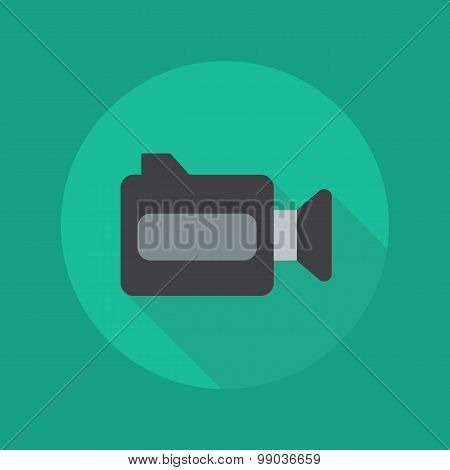 Technology Flat Icon. Video Camera