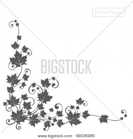 floral design element for frame or background