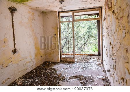 Room In Abandoned Hotel
