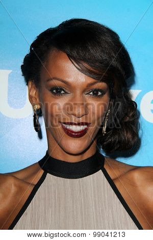 LOS ANGELES - AUG 13:  Judi Shekoni at the NBCUniversal 2015 TCA Summer Press Tour at the Beverly Hilton Hotel on August 13, 2015 in Beverly Hills, CA