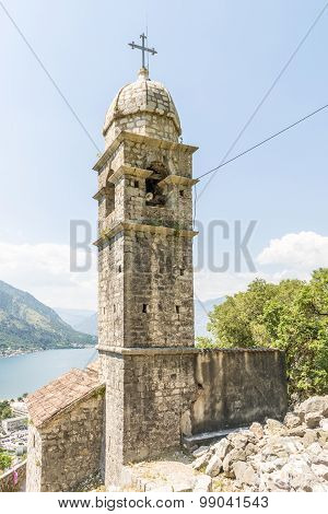 The monastery and a fortress in the Balkan Mountains Kotor.