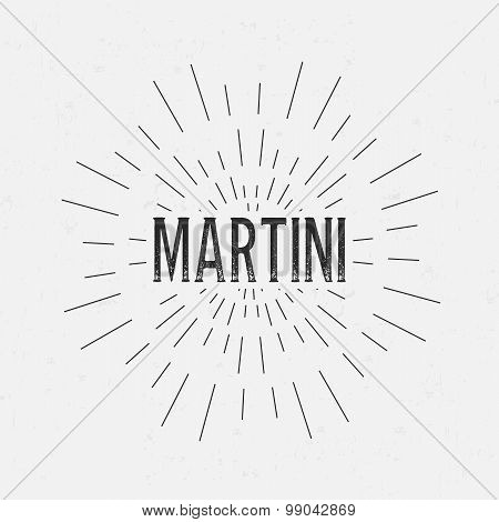 Abstract Creative concept vector design layout with text - Martini. For web and mobile icon isolated