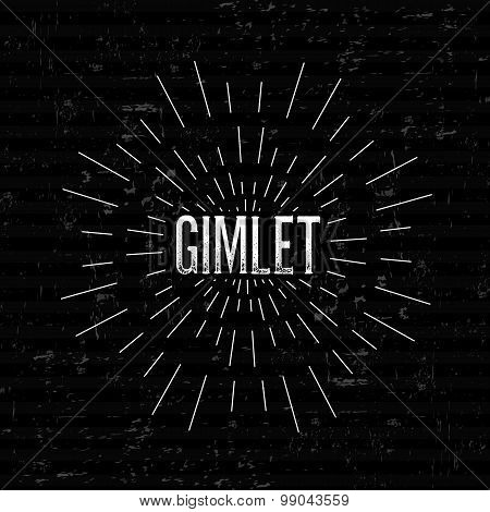 Abstract Creative concept vector design layout with text - gimlet. For web and mobile icon isolated
