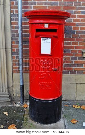 Typical British post box