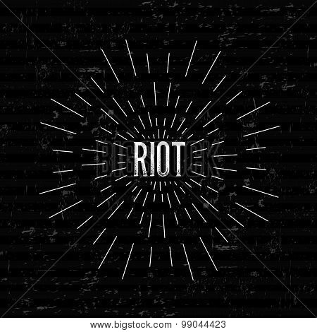 Abstract Creative concept vector design layout with text - riot. For web and mobile icon isolated on