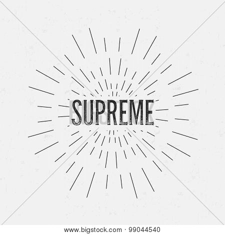 Abstract Creative concept vector design layout with text - supreme. For web and mobile icon isolated