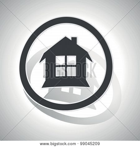 Curved house sign icon