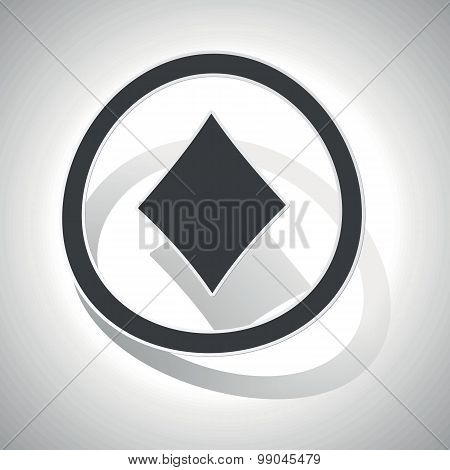 Curved diamonds sign icon