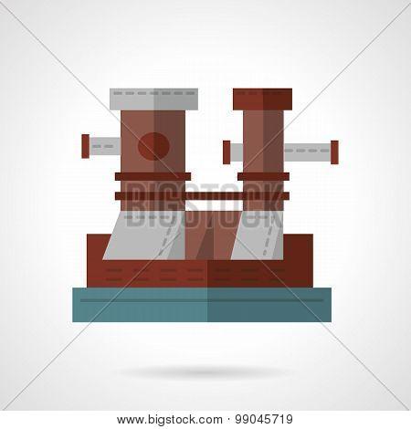 Mooring bollard flat vector icon