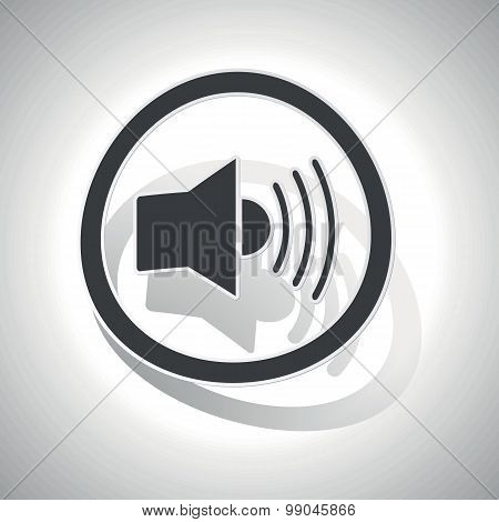 Curved loudspeaker sign icon