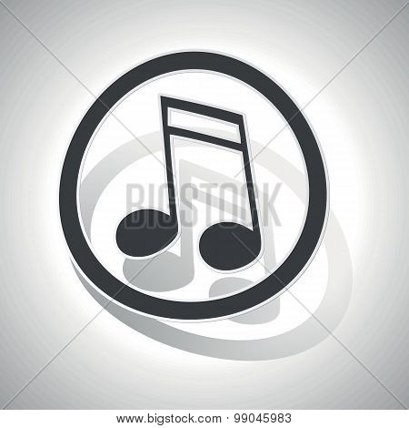 Curved music sign icon 2